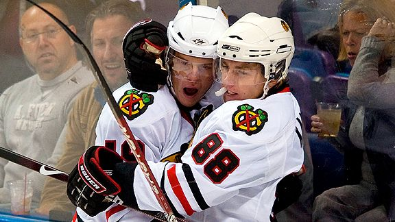 Jonathan Toews and Patrick Kane have five more years together... at least.