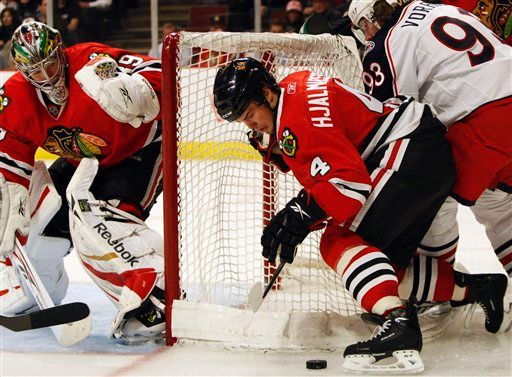 As he has all year, Niklas Hjalmarsson was exceptional on defense Thursday night.