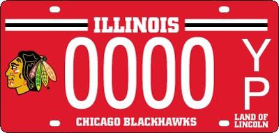Blackhawks plates