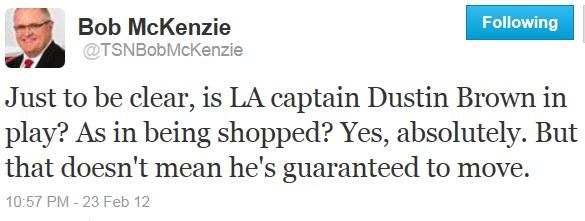 McKenzie DBrown Tweet