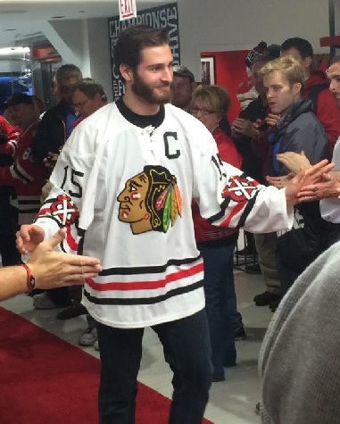 5a4b2daeb9c Blackhawks Unveil Throwback Sweaters
