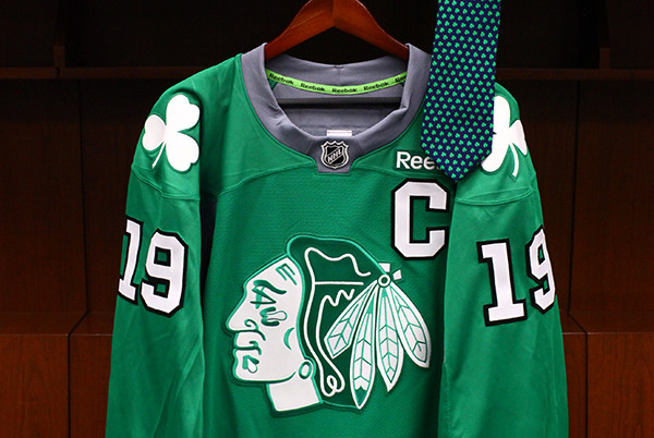Hawks green jerseys