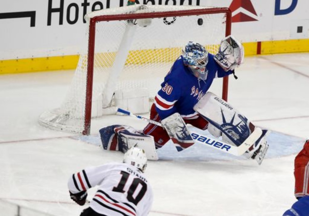 20bd3629966 Sharp, Glass Beat The King At MSG. The Chicago Blackhawks ...