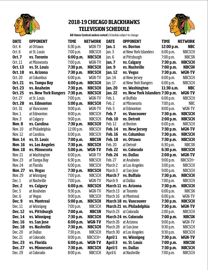Modest image for blackhawks schedule printable