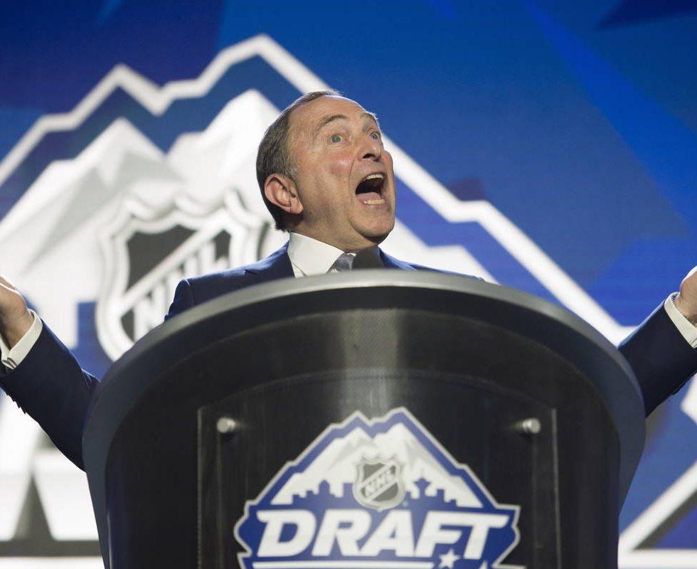 Gary Bettman NHL Draft