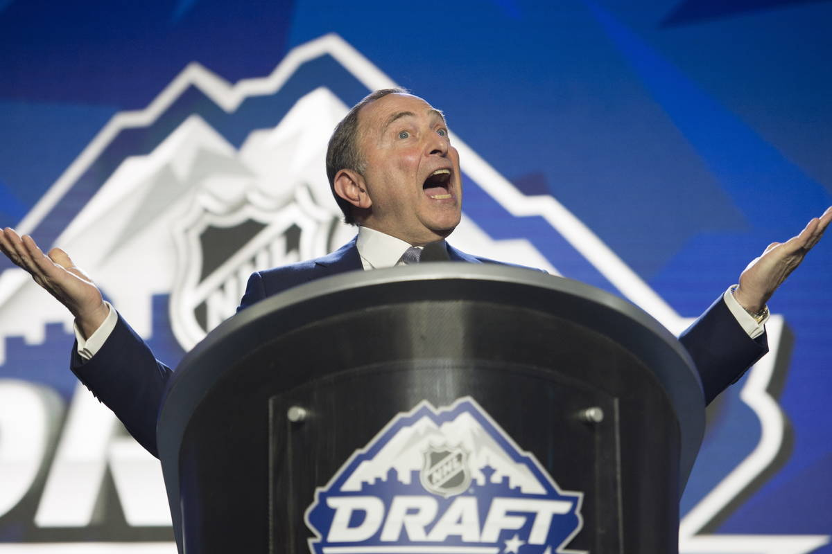 Gary Bettman NHL Draft